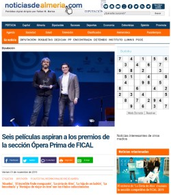 Six films aspire to the prizes of the section Opera Prima de FICAL