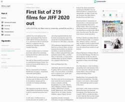 First list of 219 films for JIFF 2020 out