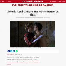 Victoria Abril and Jorge Sanz, 'reunion' in Fical