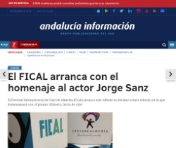 FICAL kicks off with a tribute to actor Jorge Sanz