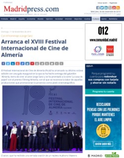 The XVIII International Film Festival of Almeria starts