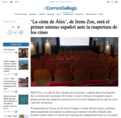 'Alex's Strip', by Irene Zoe, will be the first Spanish premiere before the reopening of theaters