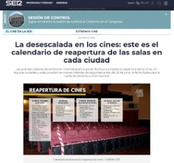 The de-escalation in the cinemas: this is the calendar of reopening of theaters in each city