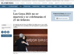 Los Goya 2021 do not move and will be celebrated on February 27
