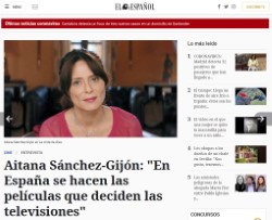Aitana Sánchez-Gijón: 'In Spain, the televisions decide which films are made'