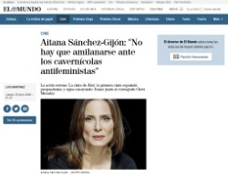 Aitana Sánchez-Gijón: 'You should not be intimidated by the anti-feminist cavemen'