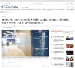 All multiplex cinemas in Seville capital will be open this Friday after confinement