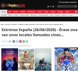 Premieres Spain (26/06/2020) - Once upon a time there were places called cinemas...