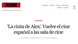 'Alex's Strip'. Spanish cinema returns to the movie theater