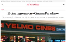 Cinema returns with «Cinema Paradiso»
